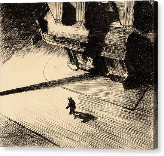 Roads Canvas Print - Night Shadows by Edward Hopper
