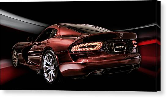 Vipers Canvas Print - Night Snake by Peter Chilelli