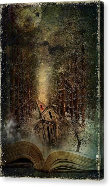 Foggy Forests Canvas Print - Night Story by Svetlana Sewell