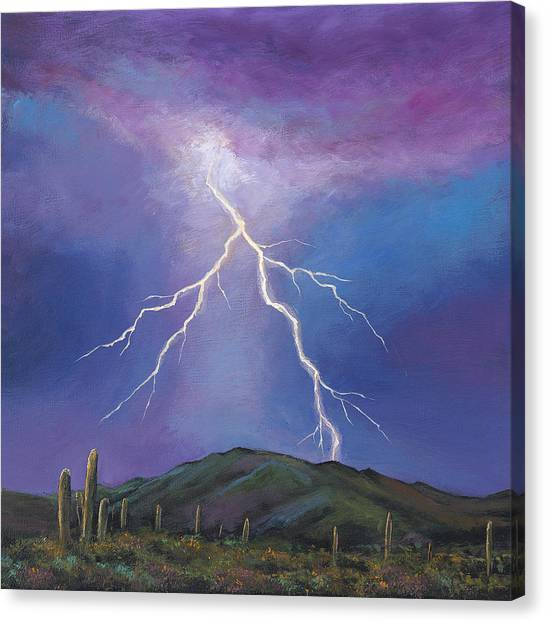 New Mexico Canvas Print - Night Strike by Johnathan Harris