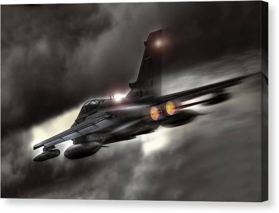Tornadoes Canvas Print - Night Strike Tornado by Peter Chilelli