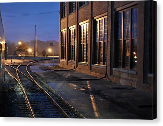 Night Tracks Canvas Print by Misty Stach