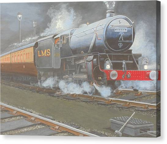 Night Train Canvas Print by James Lawler