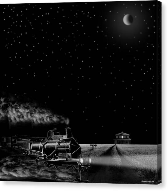 Night Train Canvas Print by Larry Butterworth
