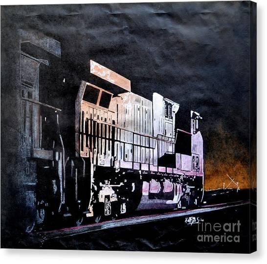 Midnite Canvas Print - Night Train by Paul Kuras