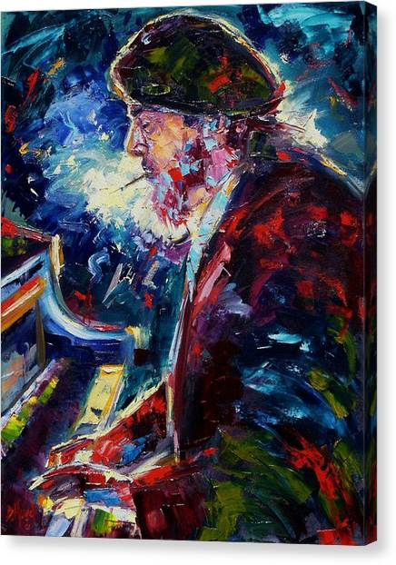 Colleges And Universities Canvas Print - Night Tripper by Debra Hurd