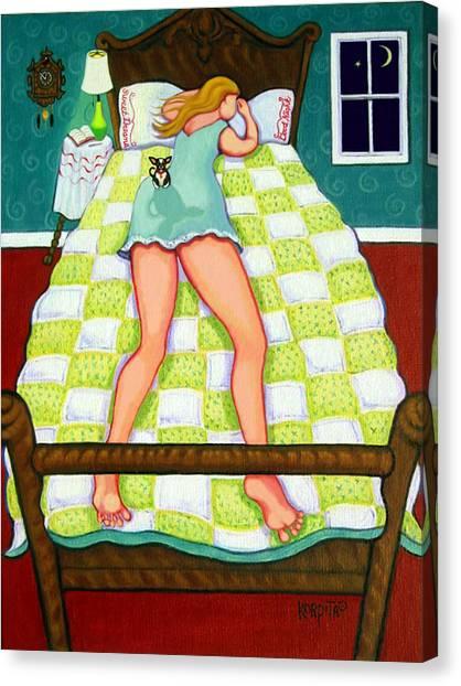 Chihuahua - Night Watch Canvas Print