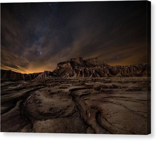 Empty Canvas Print - Night Wind by I?igo Cia