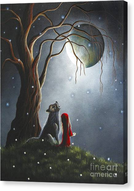 Howling Wolves Canvas Print - Little Red Riding Hood Art Prints by Shawna Erback
