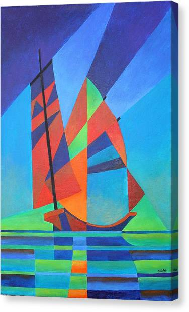 Nightboat Canvas Print