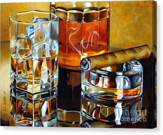 Whiskey Canvas Print - Nightcap 2 by Cory Still