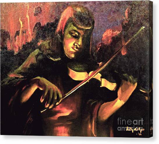 Nightclub Violinist - 1940s Canvas Print