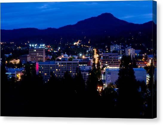 Nightfall Over Eugene Canvas Print