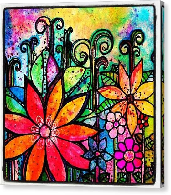 Robins Canvas Print - Nightfall..watercolor Pencils by Robin Mead