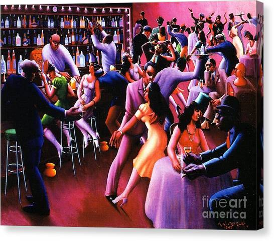 Harlem Canvas Print - Nightlife by Pg Reproductions