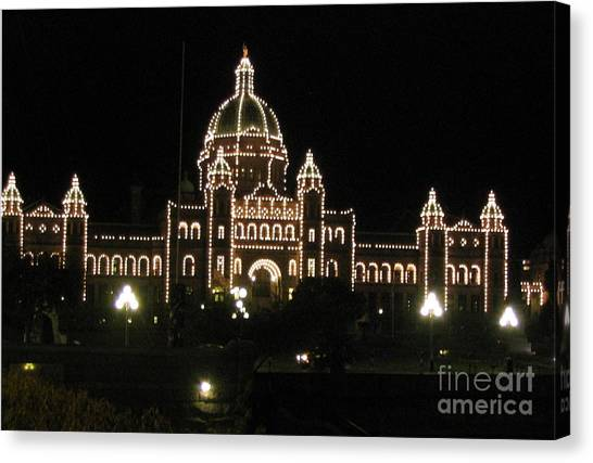 Nightly Parliament Buildings Canvas Print