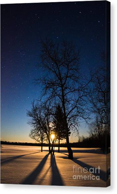 Night's Shadows Canvas Print