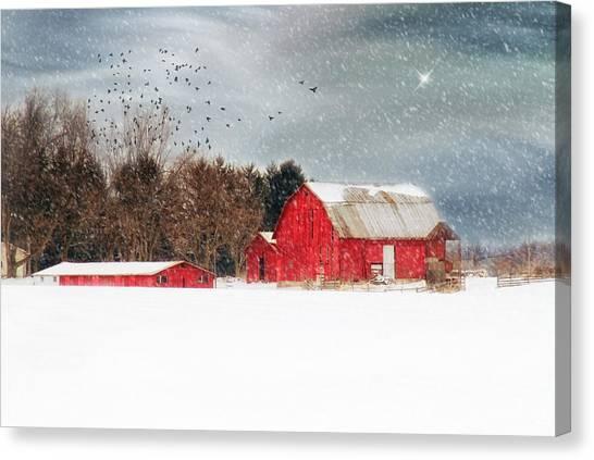 Night's Snow Dust Canvas Print