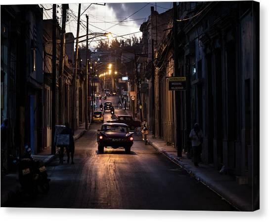 Driving Canvas Print - Nights Streets Of Matanzas by Marco Tagliarino