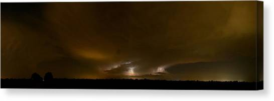 Nighttime Panoramic Canvas Print