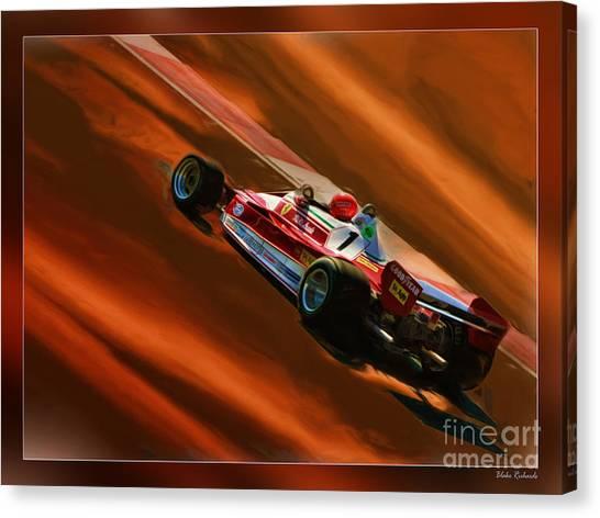 Niki Lauda's Ferrari Canvas Print