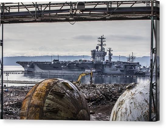 Nimitz - Port Of Everett Canvas Print