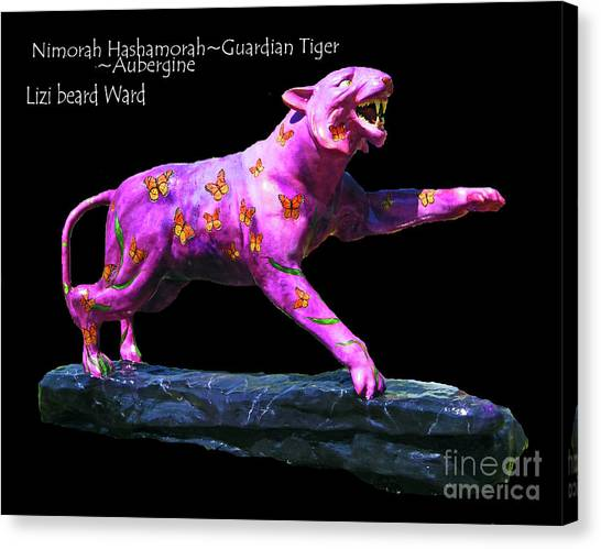 University Of Memphis Canvas Print - Nimorah Hashamorah Guardian Tiger University Of Memphis by Lizi Beard-Ward