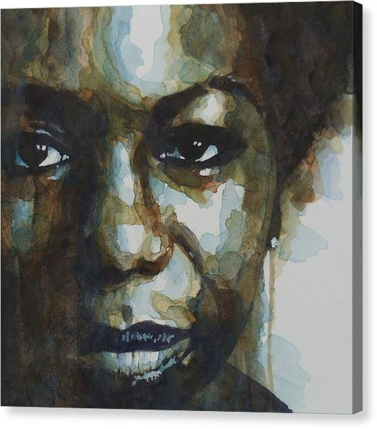 Lady Canvas Print - Nina Simone Ain't Got No by Paul Lovering