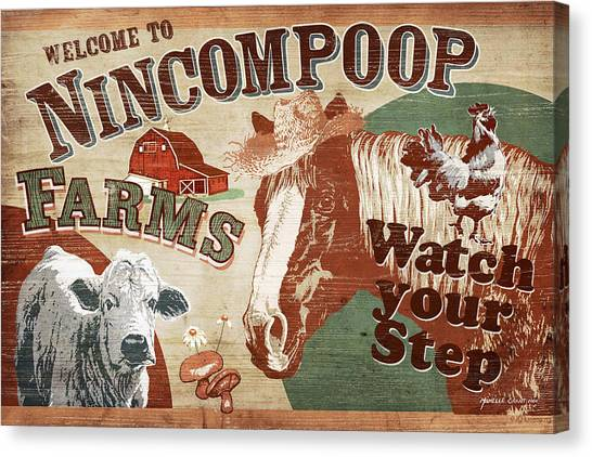 Chicken Farms Canvas Print - Nincompoop Farms by JQ Licensing