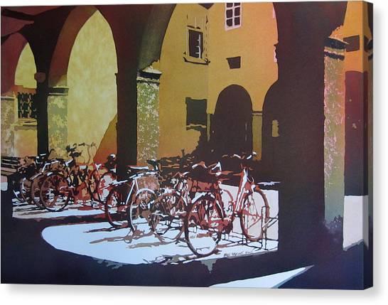 Danube Canvas Print - Nine Bicycles by Kris Parins