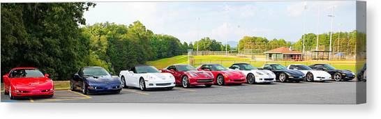 Nine Corvettes Is A Team Canvas Print
