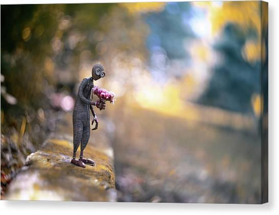 Romantic Flower Canvas Print - Nine by Erdal Suat