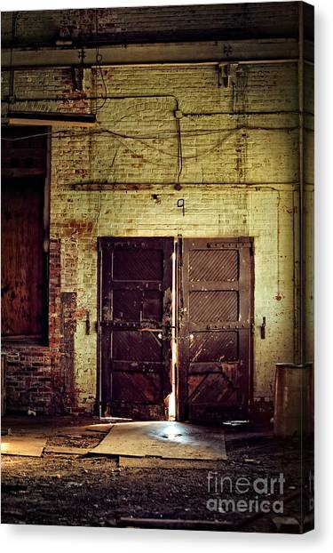 Old Door Canvas Print - Nine by HD Connelly