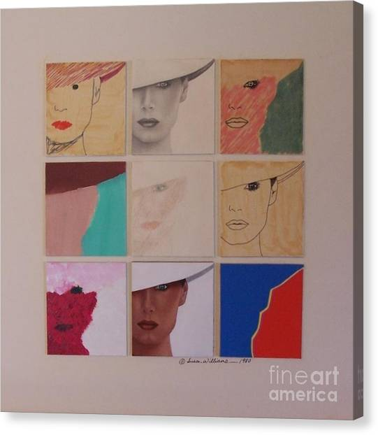 Nine Ladies Lolling Canvas Print