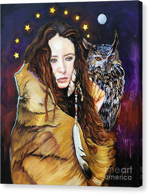 Nine Stars Woman / Owl Medicine Canvas Print