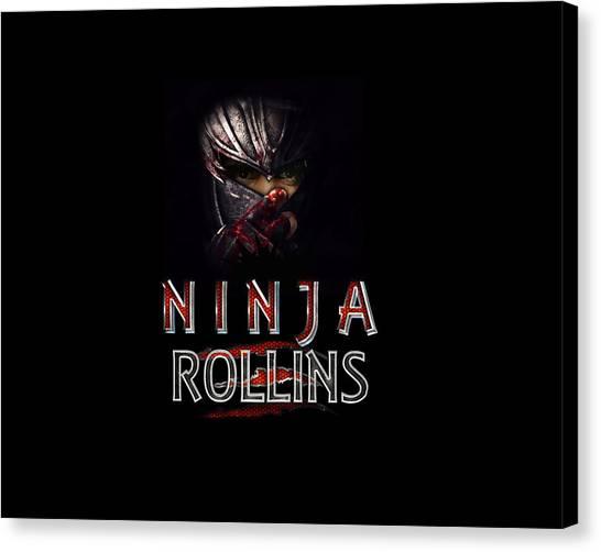 Wwe Canvas Print - Ninja Rollins by Anibal Diaz