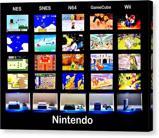 Wii Canvas Print - Nintendo History by Benjamin Yeager