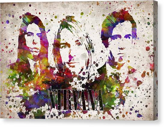 Nirvana Canvas Print - Nirvana In Color by Aged Pixel