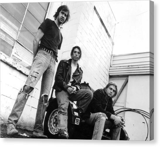 Kurt Cobain Canvas Print - Nirvana Outside  by Retro Images Archive