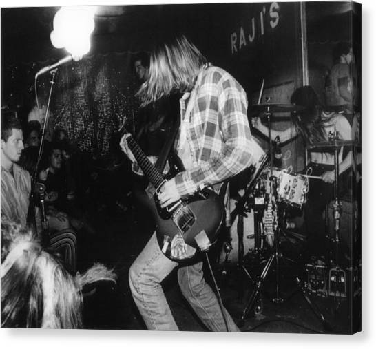Nirvana Canvas Print - Nirvana Playing In Front Of Crowd by Retro Images Archive