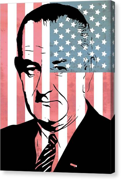 Lyndon Johnson Canvas Print - Lyndon Johnson by Dan Sproul