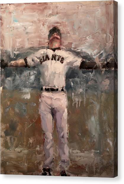 San Francisco Giants Canvas Print - Nlcs Rain by Darren Kerr