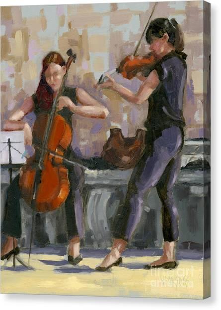 Sold No. 1 Trio In Triptych Canvas Print