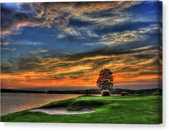 No Better Day Golf Landscape Art Canvas Print