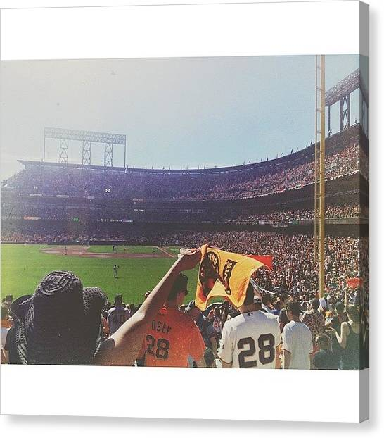 San Francisco Giants Canvas Print - No Better Place by Sara Dye