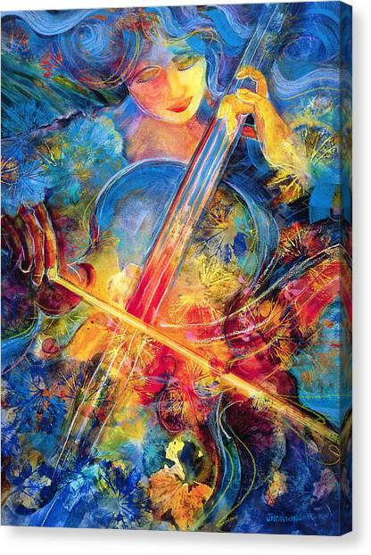 Cellos Canvas Print - No Blue Notes by Jen Norton