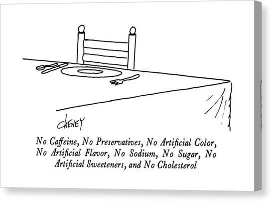 No Caffeine Canvas Print