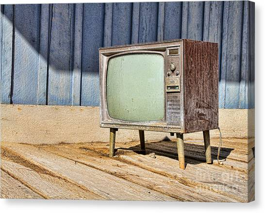 No Channel Surfing - Tv By Diana Sainz Canvas Print
