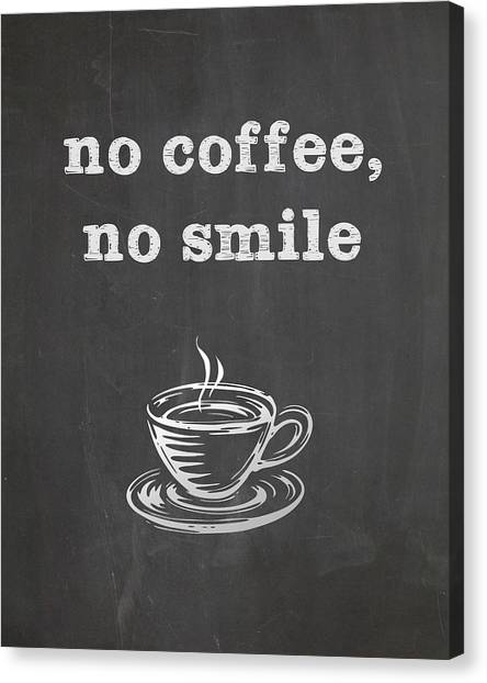 No Coffee No Smile Canvas Print
