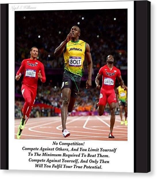 Jamaican Canvas Print - No Competition by Nigel Williams